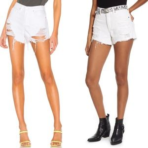 BLANKYNC The Barrow Vintage High-Rise White Short